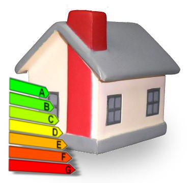 Casita con diagrama de grados de eficiencia energética
